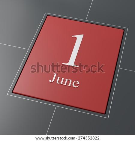 June 1 - Children's Day - stock photo
