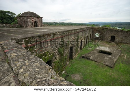 June 10, 2016 Colon, Panama: the ruins of fort San Lorenzo a world heritage site