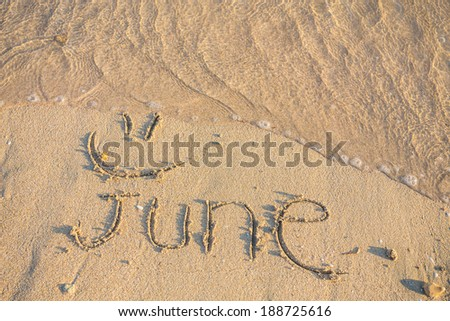 June on the sand