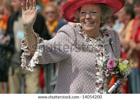 June 2008 - Queen Beatrix of the Netherlands during official public visit to the city of The Hague
