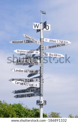 Jungle of signs - stock photo