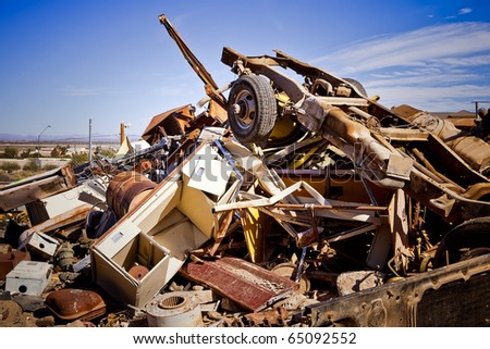 Junkyard Pile - stock photo