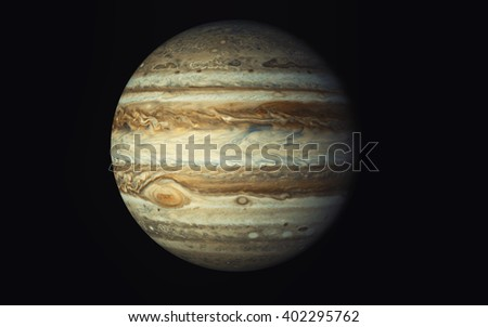 Jupiter, Elements of this image furnished by NASA - stock photo