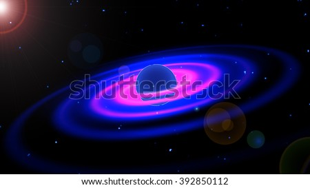 Jupiter. The photograph is prepared using Gaussian noise distribution in image processing software.  - stock photo