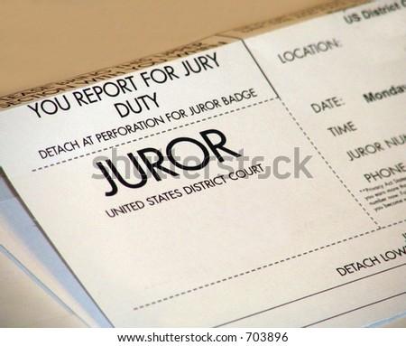 Jury Duty - stock photo