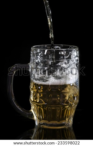 just a beer - stock photo