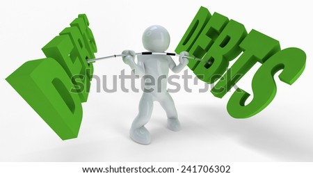Just a concept, metaphor with 3d guy. - stock photo