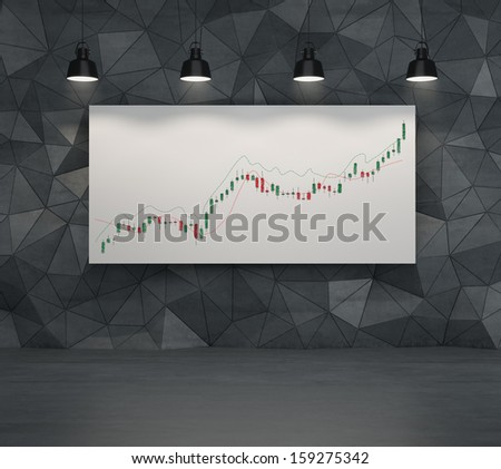 Just a price chart - stock photo