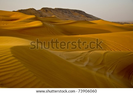 Just dunes - stock photo