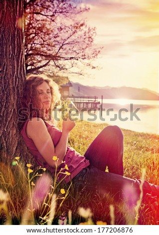 just enjoy - stock photo