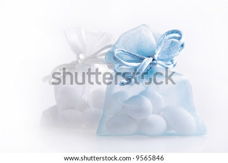 Just Married - wedding candy favors - stock photo