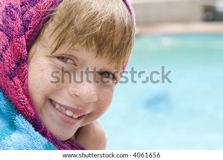 Just out of the Pool! - stock photo