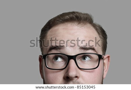 just thinking - stock photo