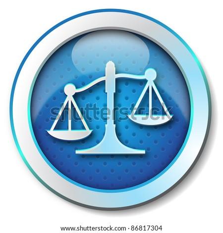 Justice icon - stock photo