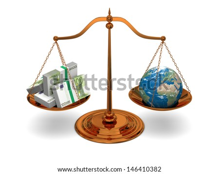 Justice in world of money, concept of justice and corruption. Elements of this image furnished by NASA. - stock photo