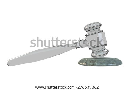 justice law hammer - stock photo