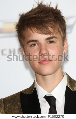 Justin Bieber at the 2011 Billboard Music Awards Press Room, MGM Grand Garden Arena, Las Vegas, NV. 05-22-11 - stock photo