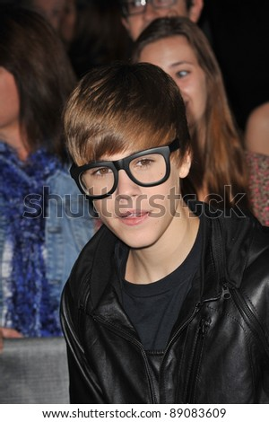 "Justin Bieber at the Los Angeles premiere of ""MegaMind"" at Mann's Chinese Theatre, Hollywood. October 30, 2010  Los Angeles, CA Picture: Paul Smith / Featureflash - stock photo"