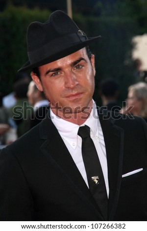 Justin Theroux  at the Los Angeles Premiere of 'Tropic Thunder'. Mann's Village Theater, Westwood, CA. 08-11-08 - stock photo