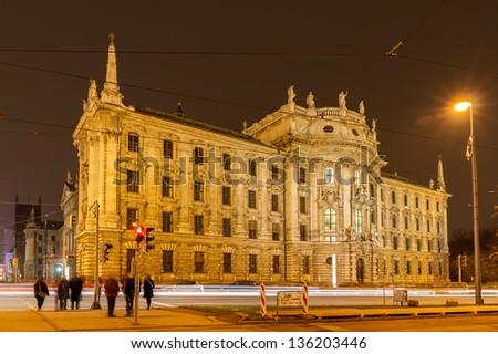 Justizpalast (Palace of Justice) - Munich, Bavaria, Germany - stock photo