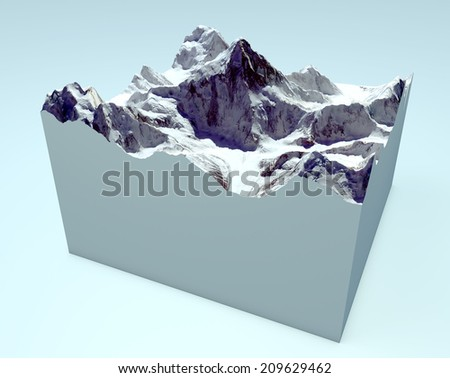 K2 cutaway section. Himalaya mountains. Images are furnished by NASA - stock photo