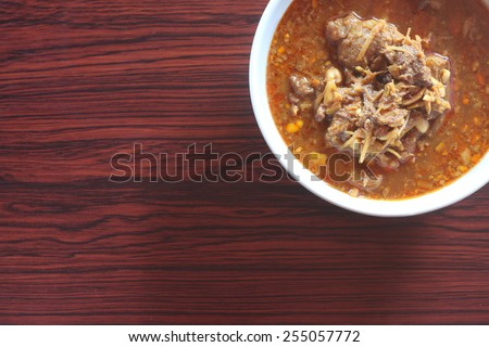 Kaeng Hung Ley Moo :Pork Curry:Hunglei curry :thai food of Northern Thailand - stock photo