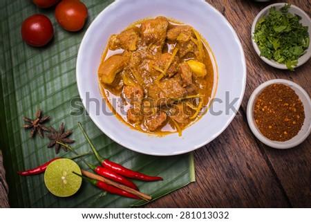 Kaeng Hung Ley Moo (Pork Curry) Northern Thai food - stock photo