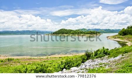 Kaeng Krachan Dam & Reservoir - stock photo