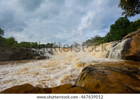 Kaeng song waterfall, natural tourist attraction in Phitsanulok Thailand.