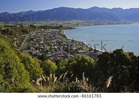 Kaikoura on the South island of New Zealand Australasia - stock photo