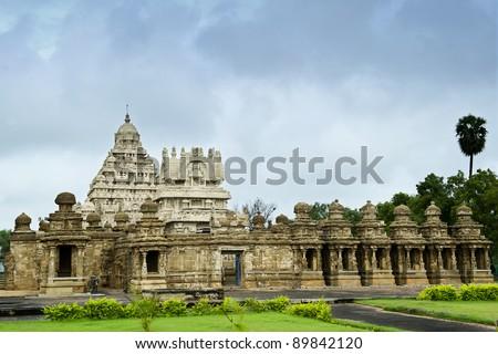 kailasanathar temple in Kanchipuram , Tamil Nadu, India - stock photo