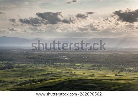 Kaiserstuhl Sunset - stock photo