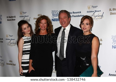 "Kaitlyn Dever, Nancy Travis, Tim Allen, Amanda Fuller at the 2013 Midnight Mission's ""Golden Heart Awards,"" Beverly Wilshire Hotel, Beverly Hills, CA 05-06-13"