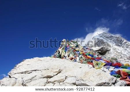Kala Pattar  mountain peak? -? Nepal - stock photo