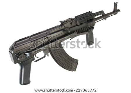 Kalashnikov AK 47 isolated on white