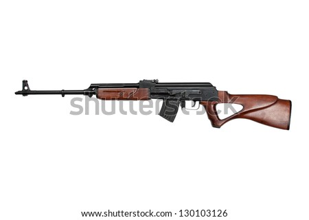 kalashnikov rifle - stock photo
