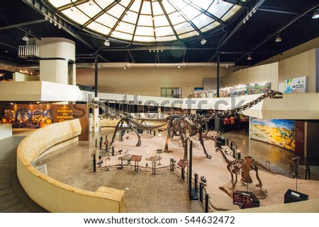 KALASIN, THAILAND - Dec 21 : Sirindhorn Museum Kalasin is Dinosaur School on Dec 21, 2016 in Kalasin,Thailand