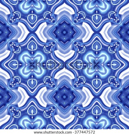 Kaleidoscope abstract background. Decorative seamless pattern texture can be used for printing onto fabric and paper - stock photo