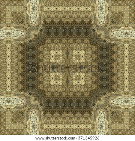 Kaleidoscope abstract background. Seamless pattern. Fur of wild animal.