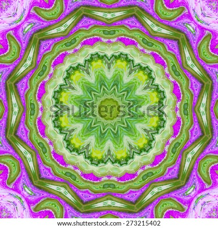 Kaleidoscopic beautiful abstract purple green background for design