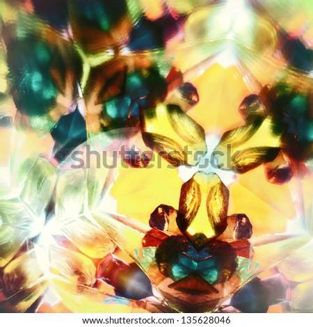 Kaleidoscopic pattern - stock photo