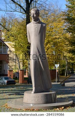 KALININGRAD, RUSSIA - AUGUST 01, 2013: Monument Lyudvikasu Raza (Ludwig Raza) (1776-1840) - stock photo