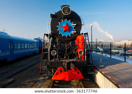 KALININGRAD, RUSSIA - JANUARY 06, 2016: The museum of the railroad in Kaliningrad