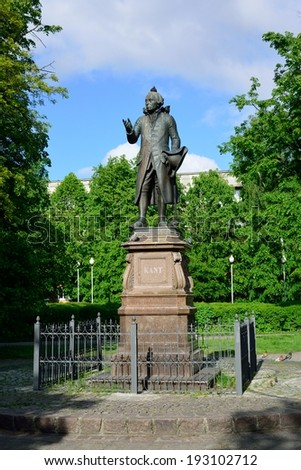 KALININGRAD, RUSSIA - MAY 14, 2014: Monument of Immanuel Kant, German philosopher, founder of German classical philosophy.