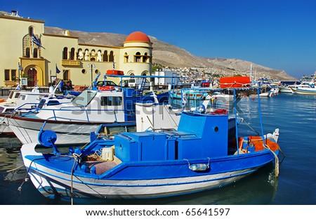 Kalymnos bay - beautiful Greek islands series - stock photo