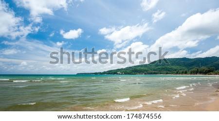 Kamala bay island Phuket  in Thailand - stock photo