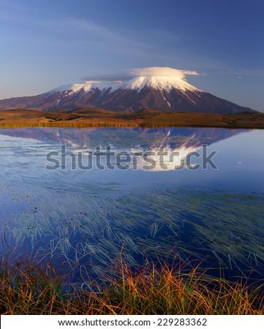 Kamchatka, National park Klyuchevskoy in September - stock photo
