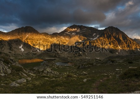 Kamenitsa Peak at sunset, Pirin Mountain, Bulgaria