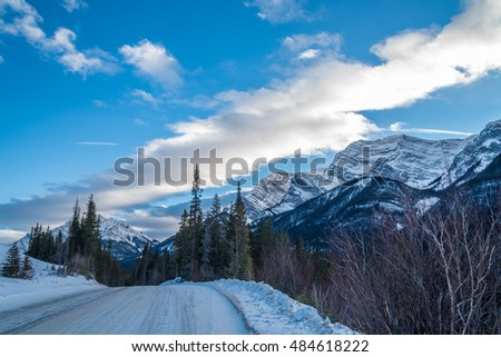 Kananaskis Country in winter time, Alberta, Canada