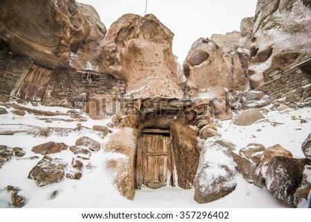 Kandovan vilage near Tabriz, Iran - stock photo